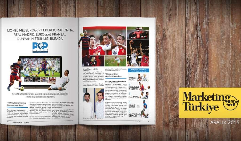 Marketing Türkiye Aralık Sayısındayız!